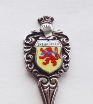 Collector Souvenir Spoon Germany Zweibrucken Coat of Arms Porcelain Emblem - $14.99