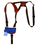 NEW Barsony Burgundy Leather Shoulder Holster 380 Ultra Compact 9mm 40 w... - $54.99