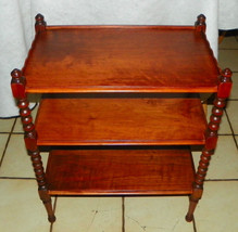 Walnut 3 Tier End Table / Side Table by Grand Rapids - $299.00