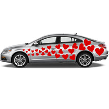 Vinyl Car Decal Flying Hearts with Different Sh... - $64.99
