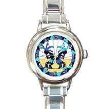 Ladies Round Italian Charm Bracelet Watch Kokopelli Gift model 26414654 - $11.99