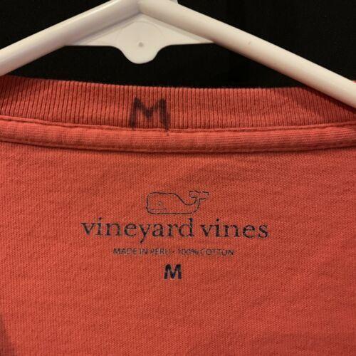 ba9fe41b Vineyard Vines Mens S/S Crab Graphic Tee Pocket T-Shirt Sz M Coral