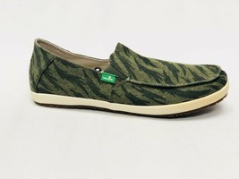 Sanuk Men Casa Funk Olive Tigerbolt Slip On Loafer Shoe Sidewalk Surfer SMF10959 - $39.99