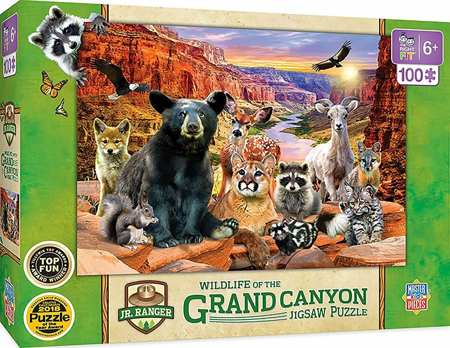 Primary image for MasterPieces Jr Ranger - Grand Canyon National Park 100Pc Puzzle, Assorted,...