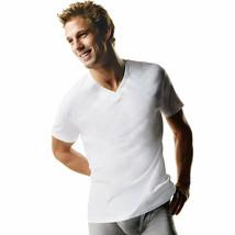 3-Pack Hanes TAGLESS Men's Big & Tall V-Neck Undershirt T-Shirt -WHITE -... - $31.34