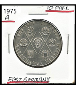 """1975 A, East Germany(GDR) 10 Mark Commemorative """"Warsaw pact"""" coin - $5.10"""