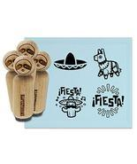 Fiesta Party Pinata Sombrero Cinco De Mayo Rubber Stamp Set for Stamping... - $24.99
