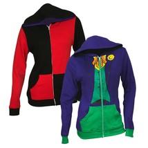 The Joker and Harley Quinn Reversible Women's Hoodie Purple - $40.98