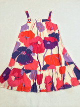 Gap Kids Gypsy L 10 White Watercolor Pink Purple Orange Floral Float Lawn Dress - $14.99