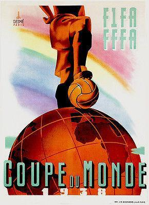 Primary image for 1938 World Cup - Promotional Advertising Poster