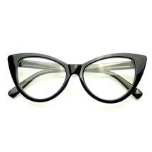 Super Cat Eye Glasses Vintage Inspired Fashion Mod Clear Lens Eyewear - $7.55