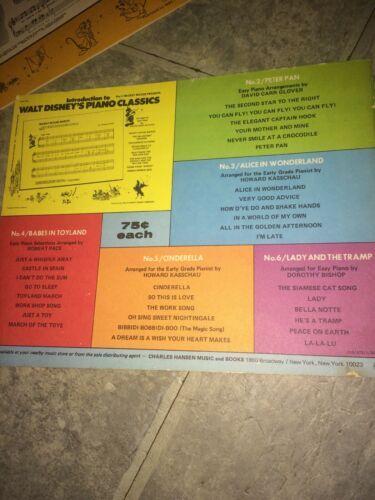 LOT 2 Introduction to Walt Disney's Piano Classics Peter Pan Cinderella Books