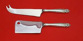 King Christian By Wallace Sterling Silver Cheese Srvr Serving Set 2P Hhws Custom - $110.30