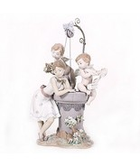 """Lladro #1882 """"May My Wish Come True"""" Young Girl at Wishing Well Rare! Re... - $1,534.50"""