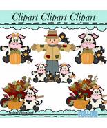 Fall Cows Clip Art - $1.35
