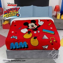 """Twin/Full Extra Soft Red Disney MickeyMouse Fleece Blanket with Sherpa 71"""" x 87"""" - $54.40"""