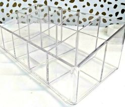 Made by Design Lucite Nail Center Makeup Organizer 2.9 inches high x 4 inches  image 7