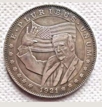 Rare Hobo Nickel Coin 1921 Morgan Dollar Donald Trump Unique Casted Coin... - $10.44
