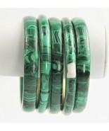 ESTATE VINTAGE Jewelry MALACHITE GEMSTONE BANGLE BRACELET CHOICE - $10.50