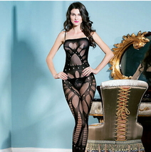 New Women Black Sexy Lingerie G String Dress Underwear Baby Doll Sheer I... - $12.00