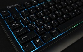 QSENN GP-K5000LED USB Wired Korean English Keyboard for PC image 2