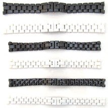 New For CHANEL Watch Strap CERAMIC Bracelet BLACK WHITE Band 14mm 16mm 19mm - $83.09