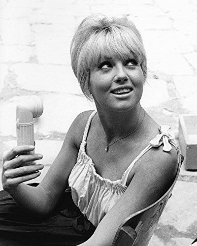 Mylene Demongeot 1960'S On Film Set 16X20 Canvas Giclee