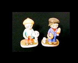 Collectible Boy & Girl Figurines AB 284 – Set of 2 Vintage image 2