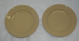 "2 Vintage 6.25"" Tan Homer Laughlin Bread Plates... - $17.82"