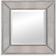 "Bassett Beaded Beveled Wall Silverleaf Mirror  24"" x 24""  M3592BEC - $177.97"