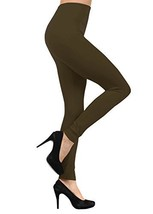 ICONOFLASH Women's Casual Seamless Solid Color Full Length Legging (Army... - $10.88