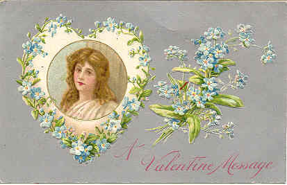 Primary image for A Valentine Message Vintage Post Card