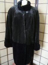 FURROCIOUS Quality Brown/Black Sheer Faux Fur Full Length Coat Size Medi... - $99.00