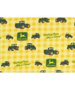John Deere Tractor Fabric, quilting farm quilt ... - $9.25