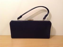 Vintage ATNA Black Faux Leather Handbag Clutch Purse image 2