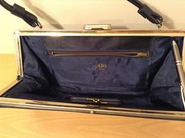 Vintage ATNA Black Faux Leather Handbag Clutch Purse image 6