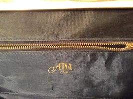Vintage ATNA Black Faux Leather Handbag Clutch Purse image 7