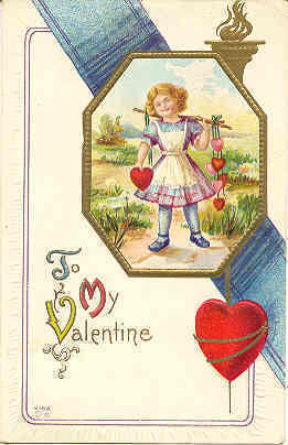 Primary image for To My Valentine 1911 Vintage Post Card