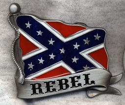 New Rebel [Confederate] Flag Belt Buckle Dixie Heritage  - $10.98