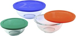 Smart Essentials 6 Piece Glass Mixing Bowl Set, Dishwasher Oven & Microw... - $93.21