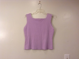 LINK Light Violet 100% Cotton Sleeveless Tank Top Blouse Square Neck line Size L