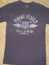 NWTS * SONOMA * Mens sz SMALL blue graphic Riding Rebels tee Shirt - $11.90