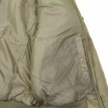 Men's Beige Premium Multi Pocket Padded Zip Up Flight Bomber Jacket w/Defect image 4
