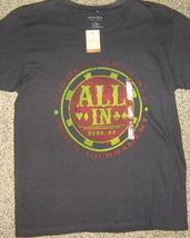 NWTS * SONOMA * Mens sz SMALL black graphic ALL IN Reno, NV tee Shirt - $11.90