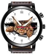 Cute but grumpy Cat Staring Unique Wrist Watch FAST UK - $45.00