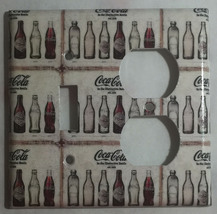 Coke Coca Cola Old bottles Light Switch Power Outlet Wall Cover Plate Home decor image 6