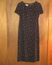 TALBOTS * Petite Womens sz 4 4P black floral Dress - $17.55