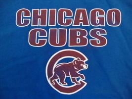 MLB Chicago Cubs Major LEague Baseball Fan Apparel Blue T Shirt Size L - $15.83