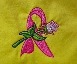Breast Cancer T-Shirt 3XL Pink Awareness Ribbon Rose Yellow S/S Crew Neck New - $23.49