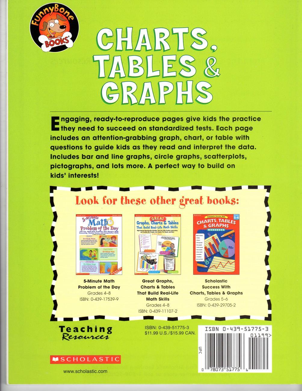 Charts, Tables & Graphs, Grades 4-6